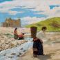 WU Zuoren, Fille tibétaine transportant de l'eau, Année 1944, Huile sur toile 吴作人 藏女负水 1944年 油画 布面
