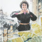 YANG Zhiguang, Nouvelle employée de la mine, Année 1972, Peinture traditionnelle chinoise sur papier 杨之光 矿山新兵 1972年 中国画 纸本