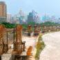 Jardin d'exposition des roues à aubes à Lanzhou兰州水车博览园