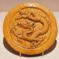 明 琉璃龙纹勾头 Embout de tuile vernissé et décoré de motifs de dragon, dynastie Ming