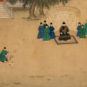 明人朱瞻基行乐图卷 Extrait du rouleau horizontal «les plaisirs de l'empereur Xuanzong», dynastie Ming