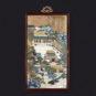 清 嵌珐琅宫廷人物图挂屏 Paravent suspendu en émail peint représentant des personnages de la cour, dynastie Qing
