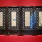 清 镶嵌和田玉和书画的屏风 Paravent en bois incrusté de jade de Hetian, dynastie Qing