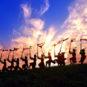 Danse de l'orgue à bouche en bambou de l'ethnie Miao 苗族芦笙舞
