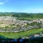 Vue panoramique du bourg Maotai 茅台镇全景