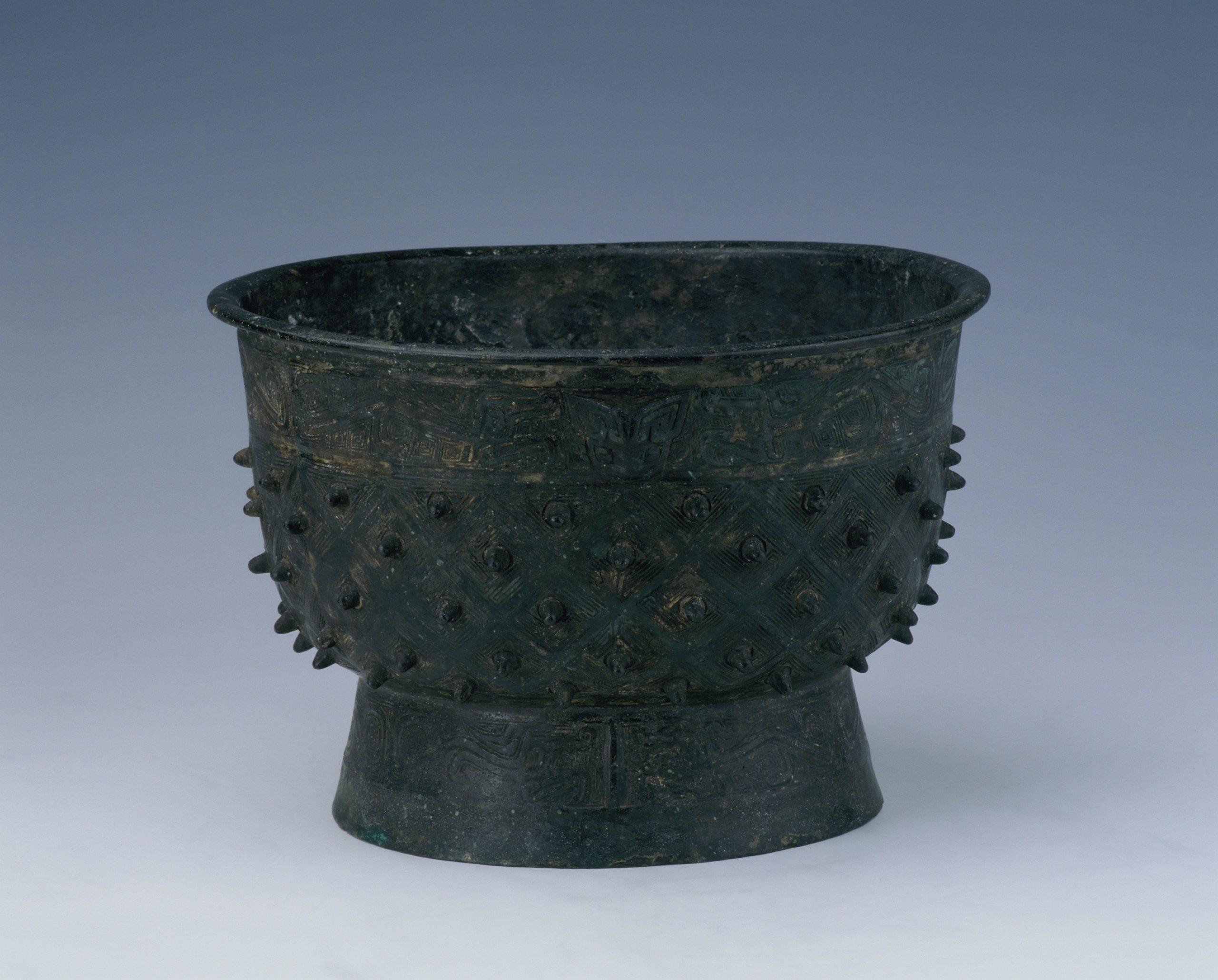 """9.""""父己""""铜簋 Vase gui 簋 en bronze inscrit Fuyi 父己"""