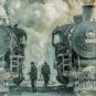 阜新矿务局机务段工人交班 - 史春 - 辽宁阜新 Rotation d'équipe, dépot de locomotives du Bureau des mines de Fuxin (Fuxin, province du Liaoning)