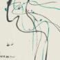 1- 吴冠中 燕子觅句来 中国画 2006年 浙江美术馆藏 Wu Guanzhong, Hirondelles de l'inspiration poétique, peinture chinoise, 2006, fonds du Musée des beaux-arts du Zhejiang