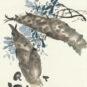 11- 周昌谷 中国画 江南春笋 70cm x 51cm 1970年代 周昌谷艺术馆藏 Zhou Changgu, peinture chinoise, Pousses de bambou du Jiangnan, 70 cm x 55 cm, années 1970, fonds de la galerie d'art Zhou Changgu