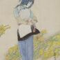 6- 李子侯 春消息 中国画 67.5cm × 46cm浙江美术馆藏 Li Zihou, Nouvelle printanière, peinture chinoise, 67,5 cm x 46 cm, fonds du Musée des beaux-arts du Zhejiang