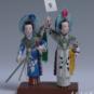 12 水斗 喻湘涟、王南仙 1984年 高16cm 彩塑 中国美术馆藏 « Combat d'eau » Yu Xianglian, Wang Nanxian, 1984, H 16 cm, sculpture polychrome, collection du Musée d'art national de Chine