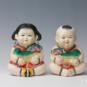 14 大阿福 高标 20世纪50年代 12×16×22.5cm 彩塑 中国美术馆藏 « Grands Afu » Gao Biao, années 1950, 12 x 16 x 22,5 cm, sculpture polychrome, collection du Musée d'art national de Chine