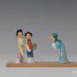 20 西厢记 柳成荫 20世纪90年代 5×22×13cm 彩塑 中国美术馆藏 « Récit du pavillon de l'ouest » Liu Chengyin, années 1990, 5 x 22 x 13 cm, sculpture polychrome, collection du Musée d'art national de Chine