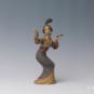 27 鼓乐 王小平、杨惠芬 18×10×32cm 彩塑 中国美术馆藏 « Musique du tambour » Wang Xiaoping, Yang Huifen, 18 x 10 x 32 cm, sculpture polychrome, collection du Musée d'art national de Chine