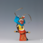 29 美猴王 王运连 2000年 17×8×25cm 彩塑 中国美术馆藏 « Beau Roi des singes » Wang Yunlian, 2000, 17 x 8 x 25 cm, sculpture polychrome, collection du Musée d'art national de Chine