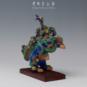 3 九狮图 佚名 20世纪初期 21×12×30cm 彩塑 中国美术馆藏 « Composition Neuf Lions » Anonyme, début XXe siècle, 21 x 12 x 30 cm, sculpture polychrome, collection du Musée d'art national de Chine