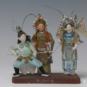 8 杨门女将 佚名 20世纪初期 10×23×20cm 彩塑 中国美术馆藏 « Femmes généraux de la famille Yang » Anonyme, début XXe siècle, 10 x 23 x20 cm, sculpture polychrome, collection du Musée d'art national de Chine