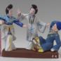 9 断桥 喻湘涟、王南仙 1985年 8×15.5×14cm 彩塑 中国美术馆藏 « Pont Brisé » Yu Xianglian, Wang Nanxian, 1985, 8 x 15,5 x 14 cm, sculpture polychrome, collection du Musée d'art national de Chine